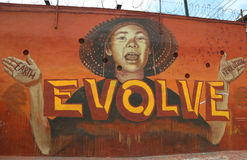 Mural art at East Williamsburg in Brooklyn Stock Photos