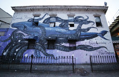 Mural art at East Williamsburg in Brooklyn Stock Images