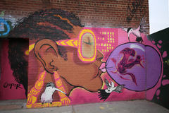 Mural art at East Williamsburg in Brooklyn Royalty Free Stock Photography