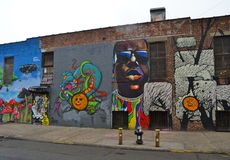 Mural art at East Williamsburg in Brooklyn, NYC. Stock Photo