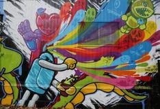 Mural art at Houston Avenue in Soho Royalty Free Stock Photo