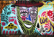 Mural art at Houston Avenue in Soho Stock Photography