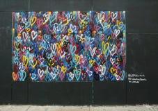 Mural art in Little Italy in Manhattan Stock Photo
