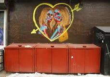 Mural art in Little Italy in Manhattan Stock Images
