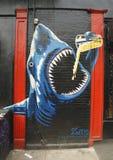 Mural art in Little Italy in Manhattan Stock Image