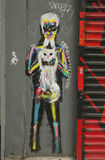 Mural art in Little Italy in Manhattan Royalty Free Stock Photography