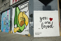 Mural art in Lower East Side in Manhattan. Royalty Free Stock Photography