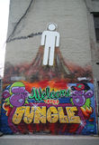 Mural art at Lower East Side in Manhattan Stock Photo