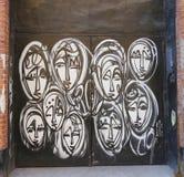 Mural art by mural artist Jordan Betten in Chelsea neighborhood in Manhattan. NEW YORK - MARCH 12, 2015: Mural art by mural artist Jordan Betten in Chelsea royalty free stock photo