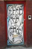 Mural art by mural artist Jordan Betten in Chelsea neighborhood in Manhattan. NEW YORK - MARCH 12, 2015: Mural art by mural artist Jordan Betten in Chelsea royalty free stock photography