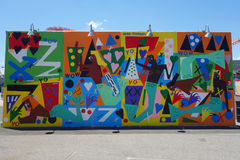 Mural art at new street art attraction Coney Art Walls at Coney Island section in Brooklyn Stock Photography