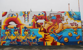 Mural art at the new street art attraction Coney Art Walls Stock Photo