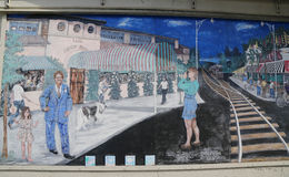 Mural art in Sheepshead Bay section of Brooklyn Royalty Free Stock Photo