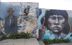 Mural art in Ushuaia, Argentina Royalty Free Stock Images