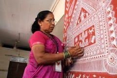 Mural artist Stock Photo