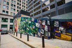 Mural Arts Philadelphia - Pennsylvania. Each year, 12,000 residents and visitors tour Mural Arts' outdoor art gallery, which has become part of the city stock photos