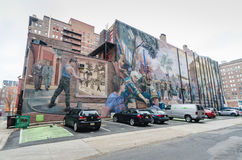 Mural Arts Philadelphia - Pennsylvania. Each year, 12,000 residents and visitors tour Mural Arts' outdoor art gallery, which has become part of the city stock image
