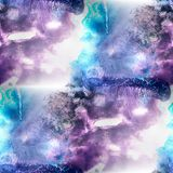 Mural  background  seamless blue, purple, black pattern backgrou Royalty Free Stock Images