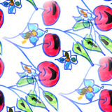 Mural background seamless  pattern cherry texture Royalty Free Stock Images