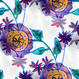 Mural background seamless  pattern flowers texture Stock Images
