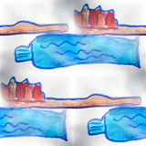 Mural background seamless  pattern toothbrush, Royalty Free Stock Images