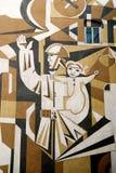 Mural in baku azerbaijan. Soviet mural in baku azerbaijan Royalty Free Stock Photography