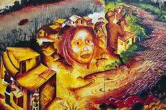 Mural balsámico del callejón, distrito de la misión imagen de archivo libre de regalías