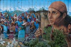 Mural balsámico del callejón, distrito de la misión fotografía de archivo libre de regalías
