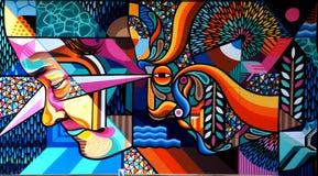 Mural by  Beastman.Spotlight Sydenham. Royalty Free Stock Photo