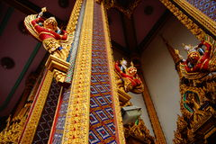 Mural. Beautiful painting on the pillar in the temple of Thailand Royalty Free Stock Photography