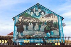 Mural Belfast stock photo