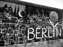 Mural on Berlin Wall. Painting on east side of Berlin Wall, Berlin Royalty Free Stock Images