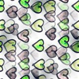 Mural   Black and green heart background seamless pattern backgr Stock Image