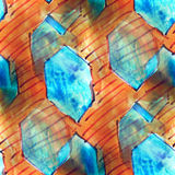 Mural   blue diamonds background seamless pattern Royalty Free Stock Image
