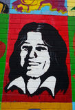 Mural with Bobby Sands, Belfast, Northern Ireland Stock Photos