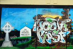Mural at the Bogside, Derry, Northern Ireland Stock Images