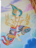 Mural oil color in temple wall Royalty Free Stock Photos