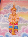 Mural oil color in temple Royalty Free Stock Photography