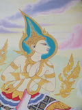 Mural oil color in temple Stock Photography