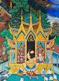 Mural Buddhist art Royalty Free Stock Photo