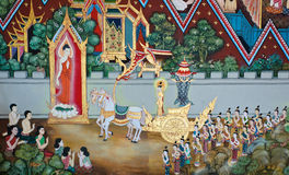 Mural Buddhist art Stock Images