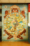The mural. This is a mural in the Buddhist Church. Generality in Thailand any kind of art decorated in Buddhist Church Temple pavilion Temple Hall created with stock photo