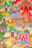 Mural Buddhist religion. Royalty Free Stock Images