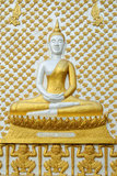 Mural Buddhist Religion In Thailand. Gold Mural Buddhist Religion In Thailand Royalty Free Stock Photo