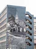 Mural on a building in George Street Glasgow Stock Image