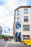 Mural on building in Mitte district - Berlin Stock Photography