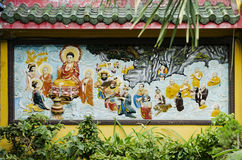 Mural in chinese temple ho chi minh saigon vietnam Royalty Free Stock Images