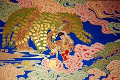 Mural. Chinese mural on temple wall royalty free stock images