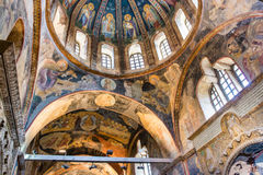 Mural in Chirch Chora , Istanbul Stock Photos