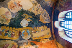 Mural in Chirch Chora , Istanbul Royalty Free Stock Photo